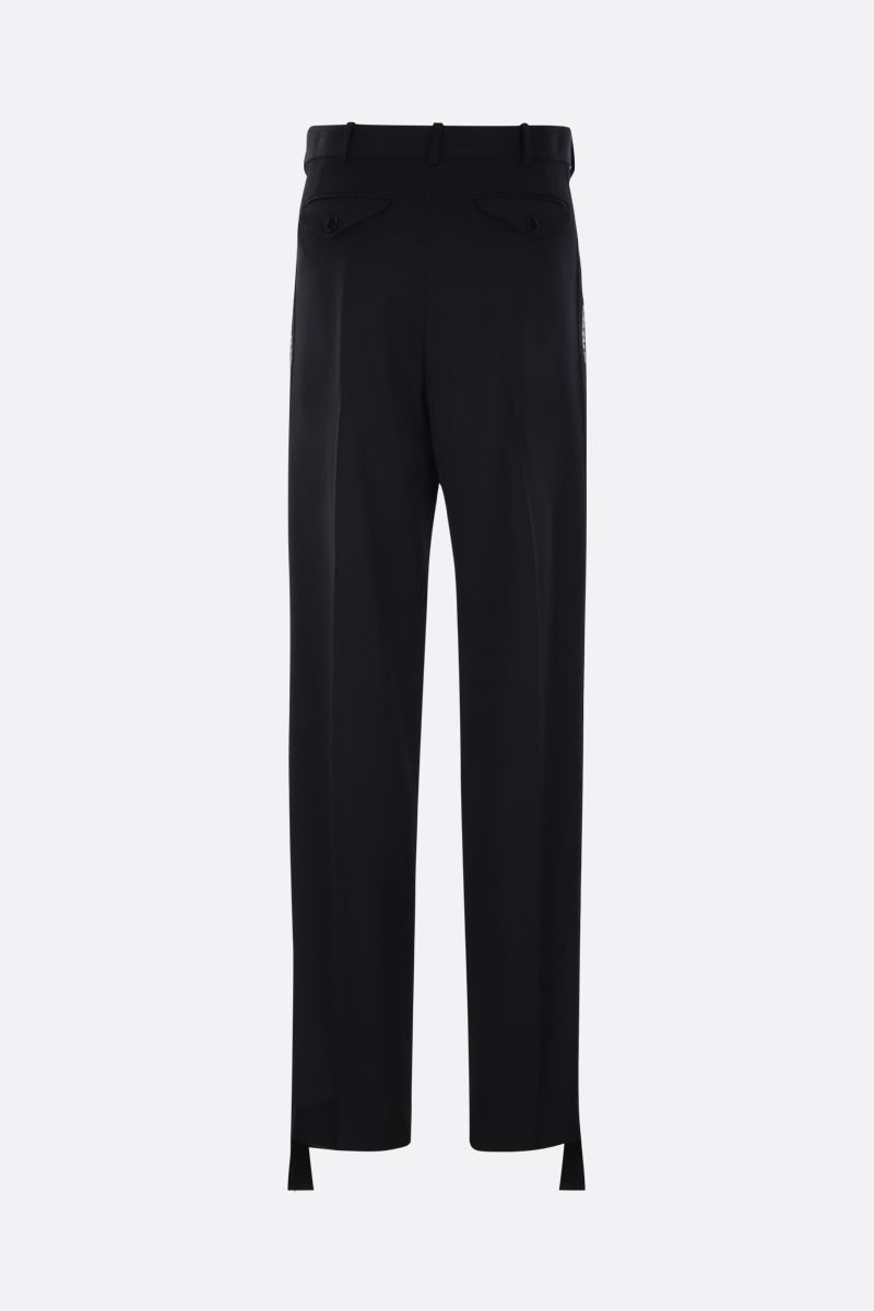 STELLA McCARTNEY: We are the weather bands-detailed wool darted pants Color Black_2