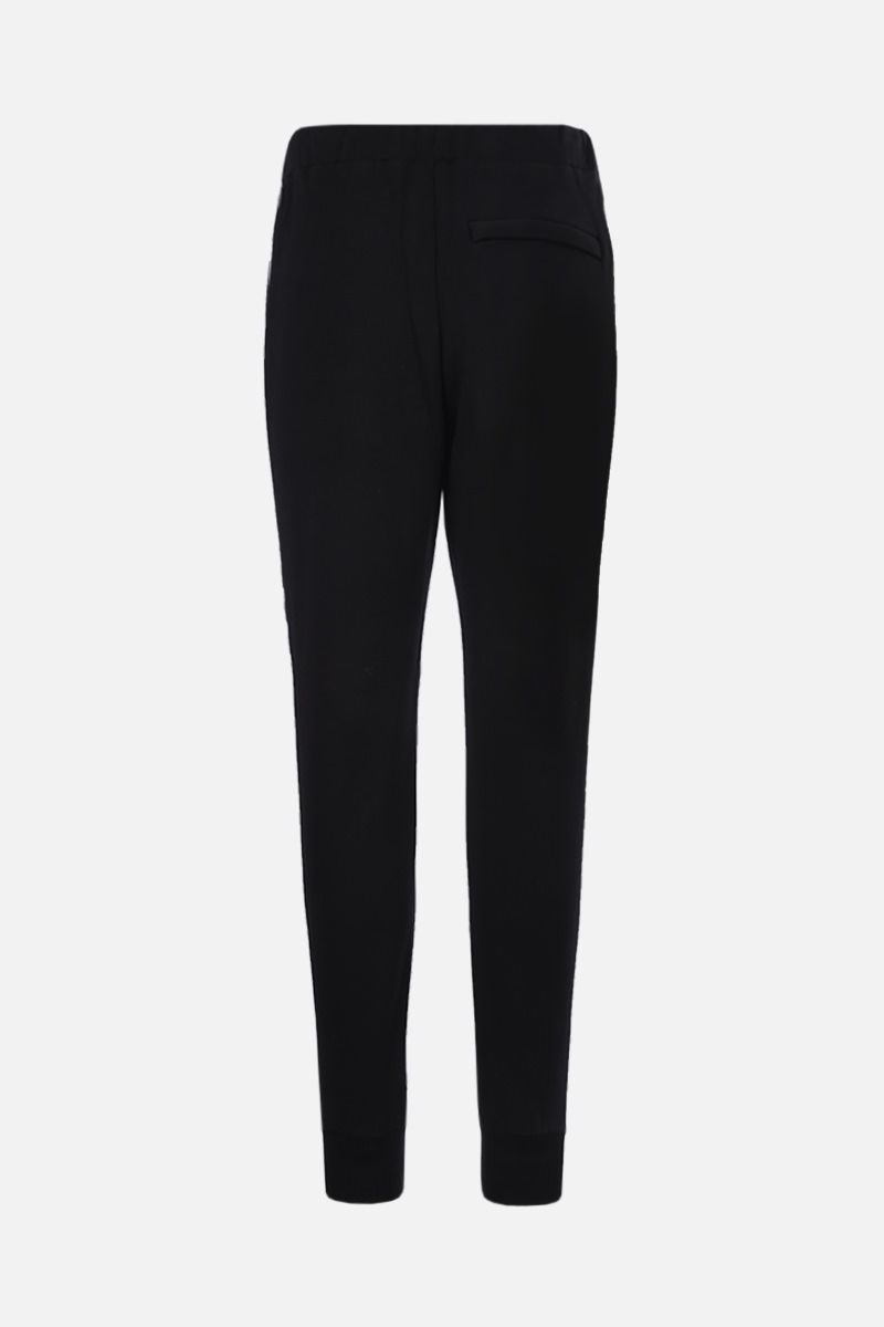 STELLA McCARTNEY: 23 Old Bond St. London band-detailed cotton joggers Color Black_2