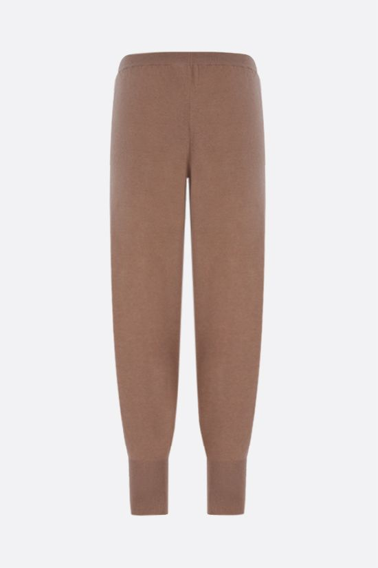 STELLA McCARTNEY: cashmere wool blend joggers Color Brown_2