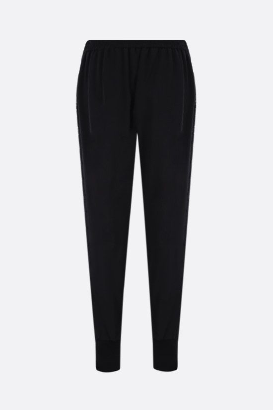 STELLA McCARTNEY: Julia stretch cady joggers Color Black_2