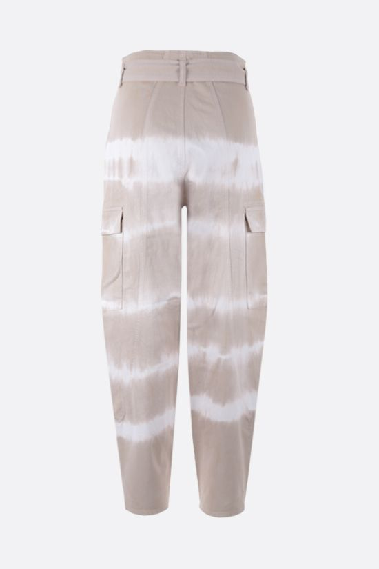 STELLA McCARTNEY: Bamboo Safari tie-dye cotton pants Color Brown_2