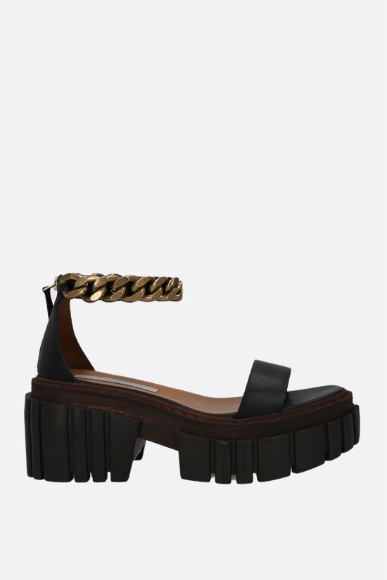STELLA McCARTNEY: Emilie platform sandals in matte Alter Mat Color Black_1