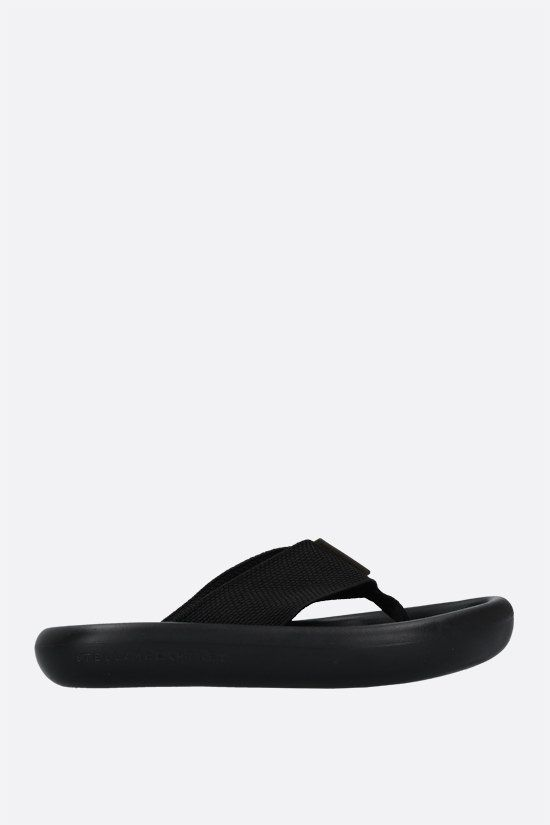 STELLA McCARTNEY: sandalo slide Air in gros grain Colore Nero_1