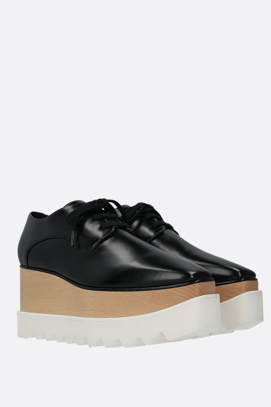 STELLA McCARTNEY: scarpa derby Elyse in Alter Nappa lucida Colore Nero_2