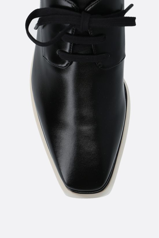 STELLA McCARTNEY: scarpa derby Elyse in Alter Nappa lucida Colore Nero_4