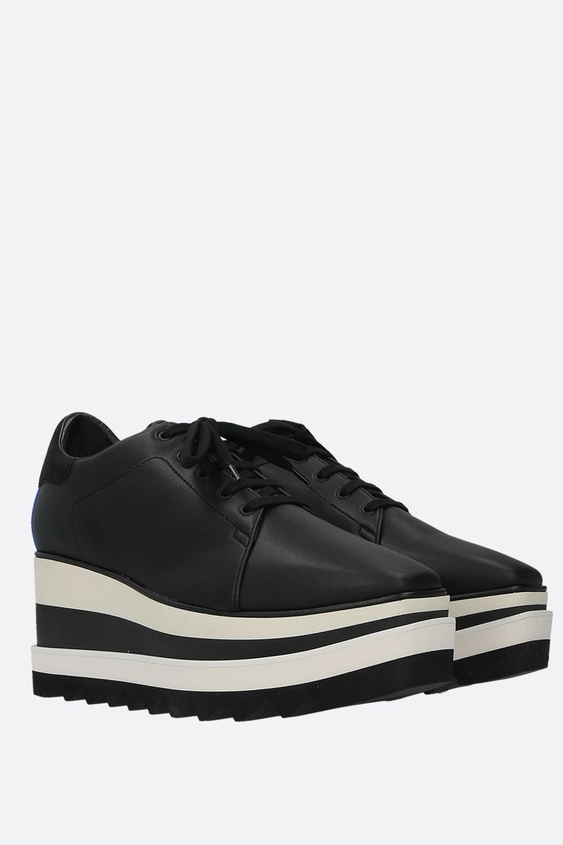 STELLA McCARTNEY: Sneak-Elyse flatform derby shoes in Alter Nappa Color Black_2