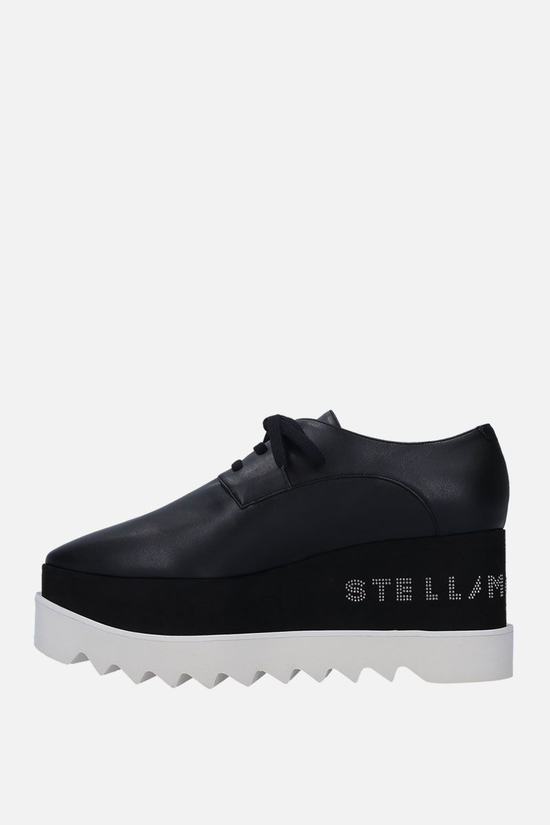 STELLA McCARTNEY: Elyse Alter Nappa derby shoes Color Black_2