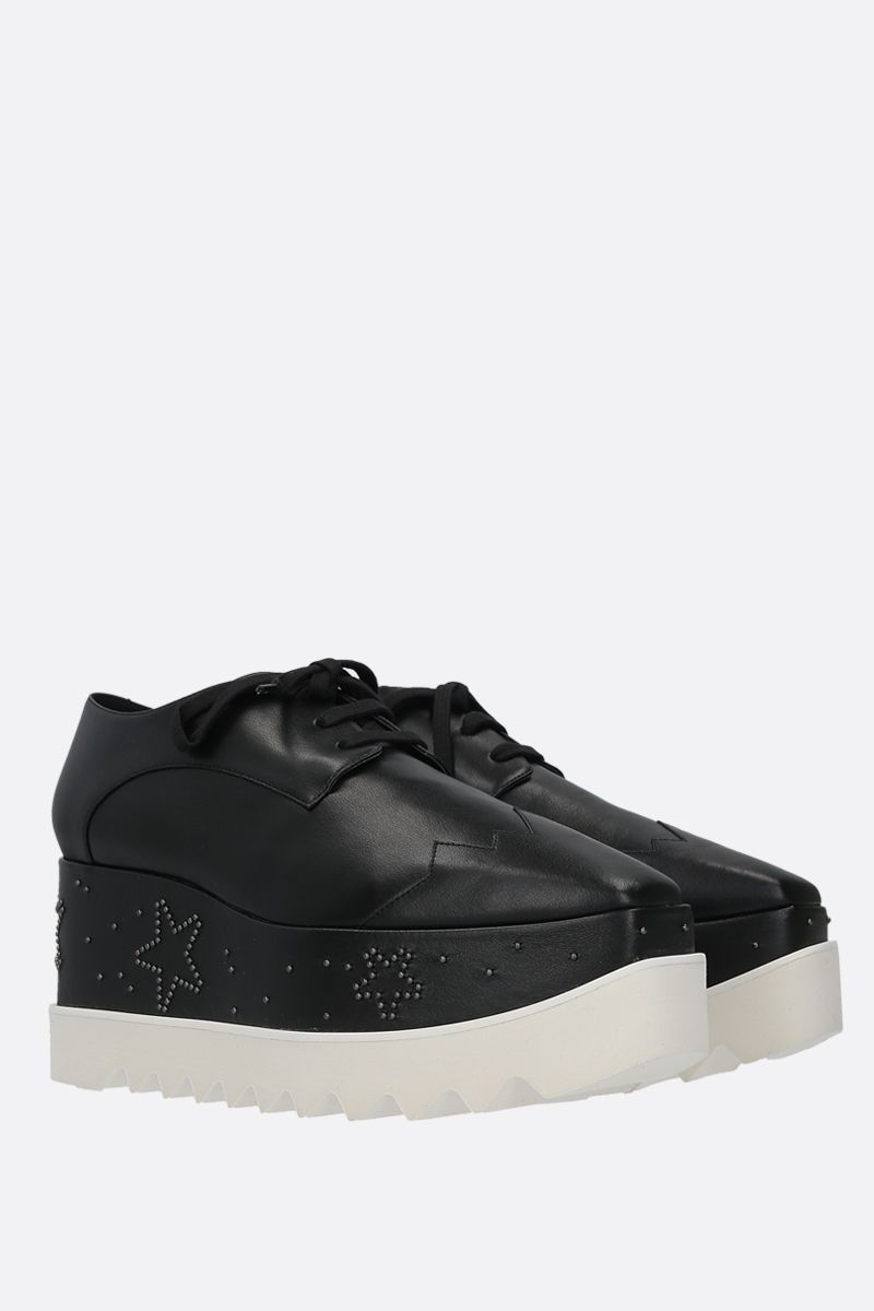 STELLA McCARTNEY: Elyse derby shoes in Alter Nappa Color Black_2