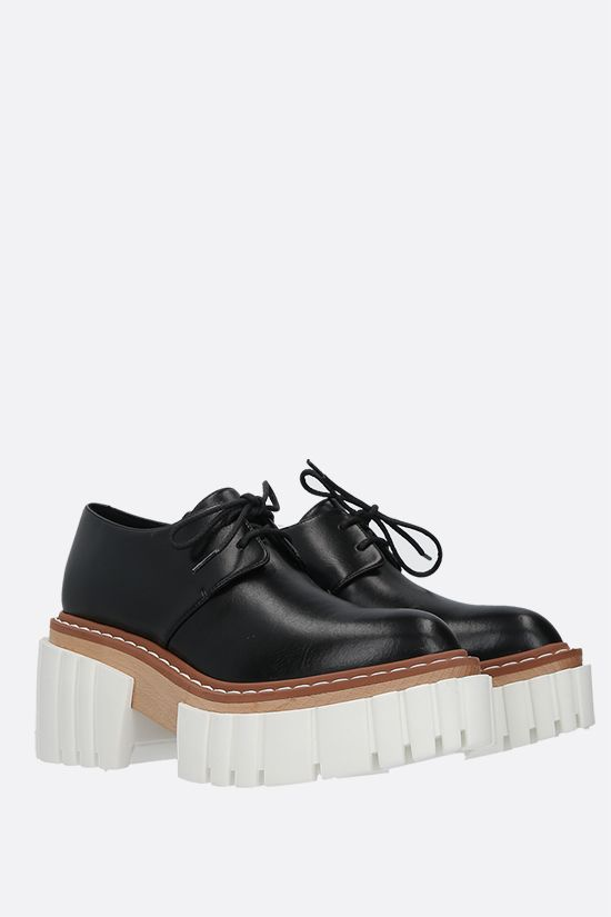 STELLA McCARTNEY: Emilie derby shoes in Alter Nappa Color Black_2