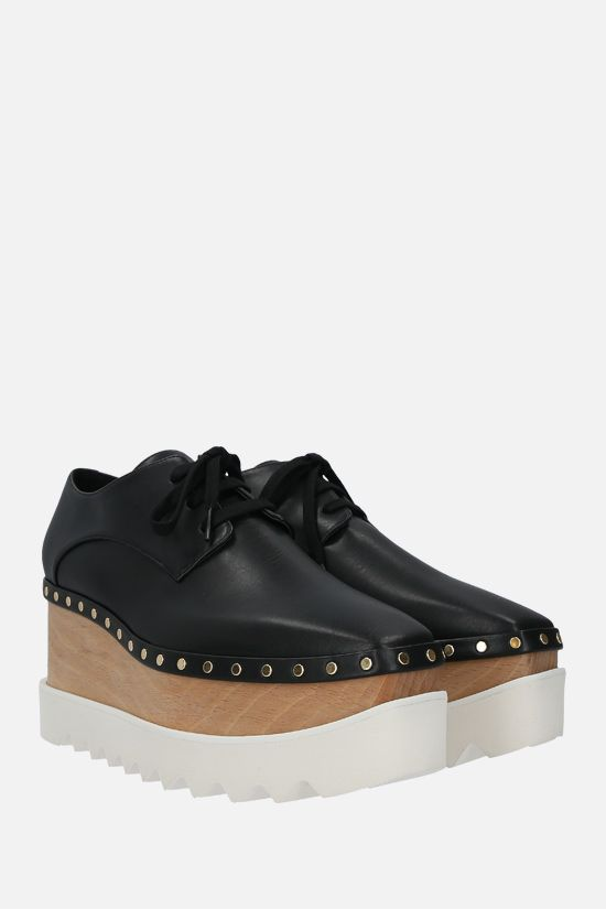 STELLA McCARTNEY: Elyse derby shoes in studded Alter Nappa Color Black_2