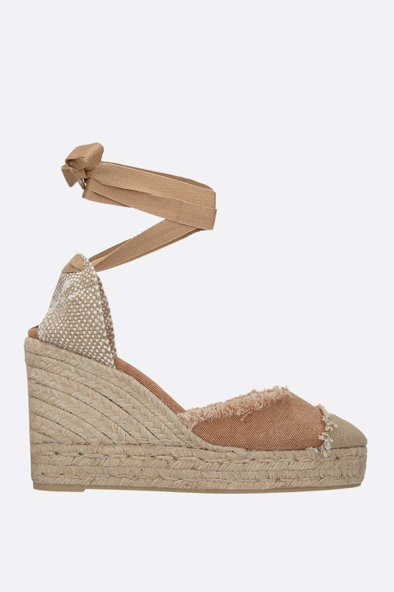 CASTANER: Catalina wedge espadrilles in canvas and jute Color Brown_1