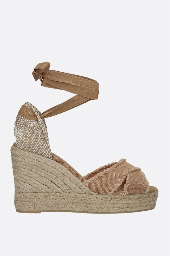 CASTANER: Bluma canvas and jute wedge sandals Color Neutral_1