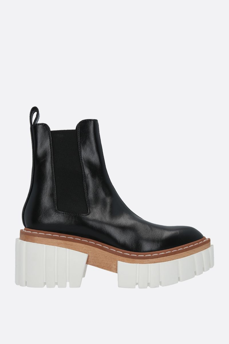 STELLA McCARTNEY: Emilie chelsea boots in Alter Nappa Color Black_1