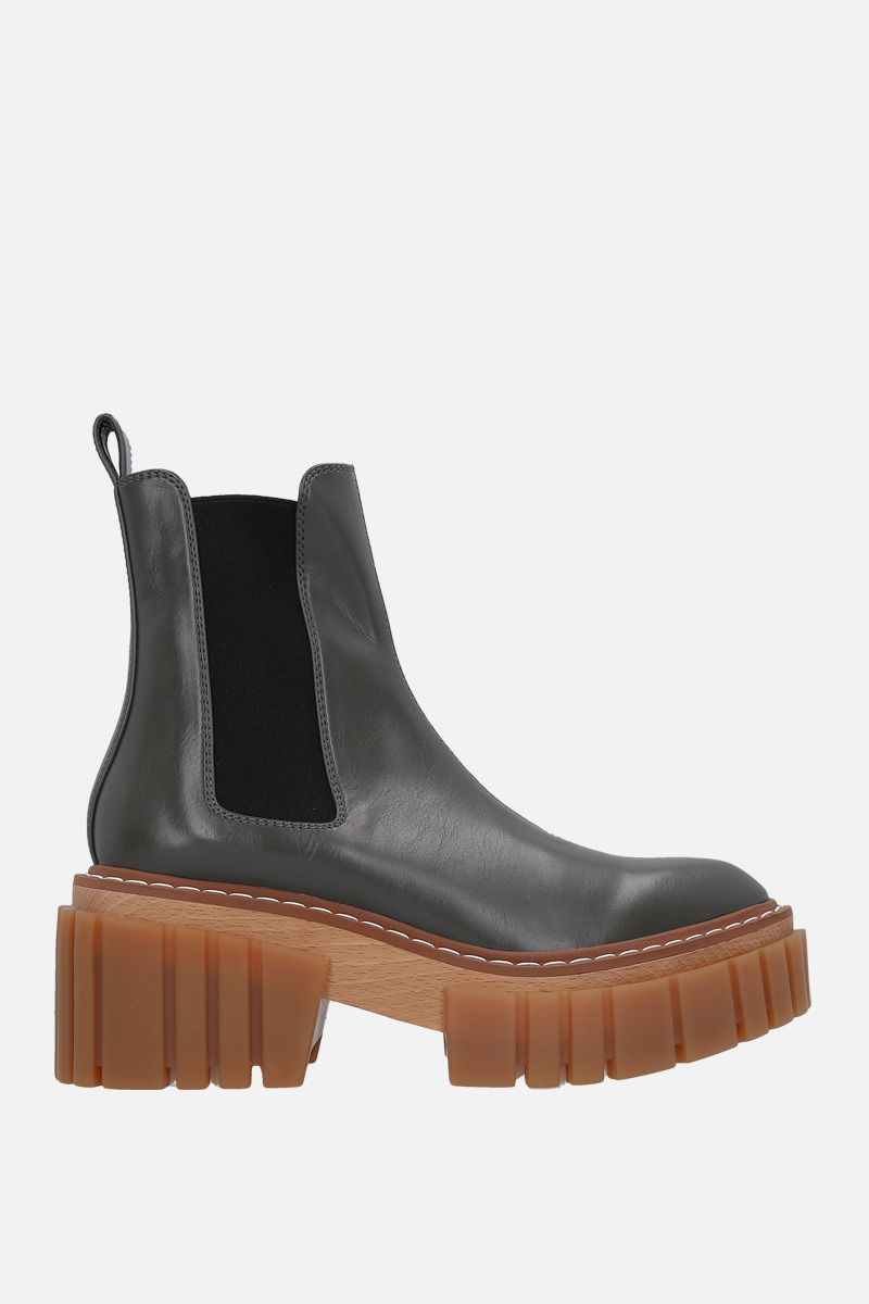 STELLA McCARTNEY: Emily chelsea boots in Alter Nappa Color Brown_1