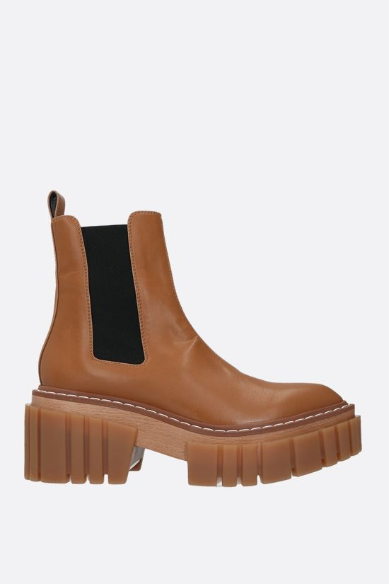 STELLA McCARTNEY: Emilie chelsea boots in Alter Nappa Color Brown_1