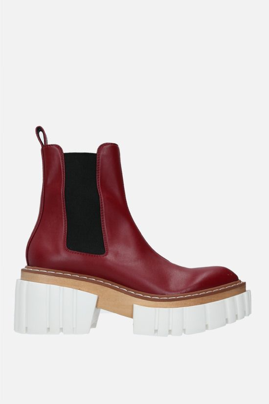 STELLA McCARTNEY: Emilie chelsea boots in Alter Nappa Color Red_1