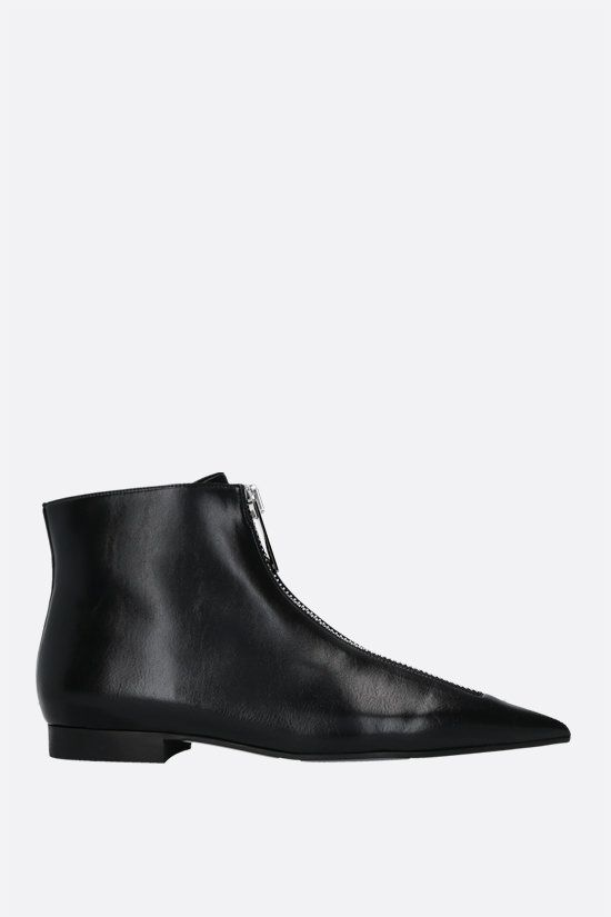 STELLA McCARTNEY: Zipit ankle boots in Shiny Alter Nappa Color Black_1