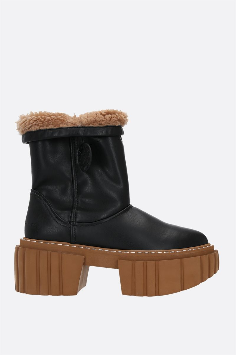 STELLA McCARTNEY: Teddy Emilie ankle boots in Alter Mat Color Black_1