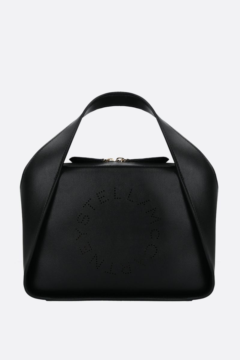 STELLA McCARTNEY: Stella Logo medium tote in Alter Nappa Color Black_1