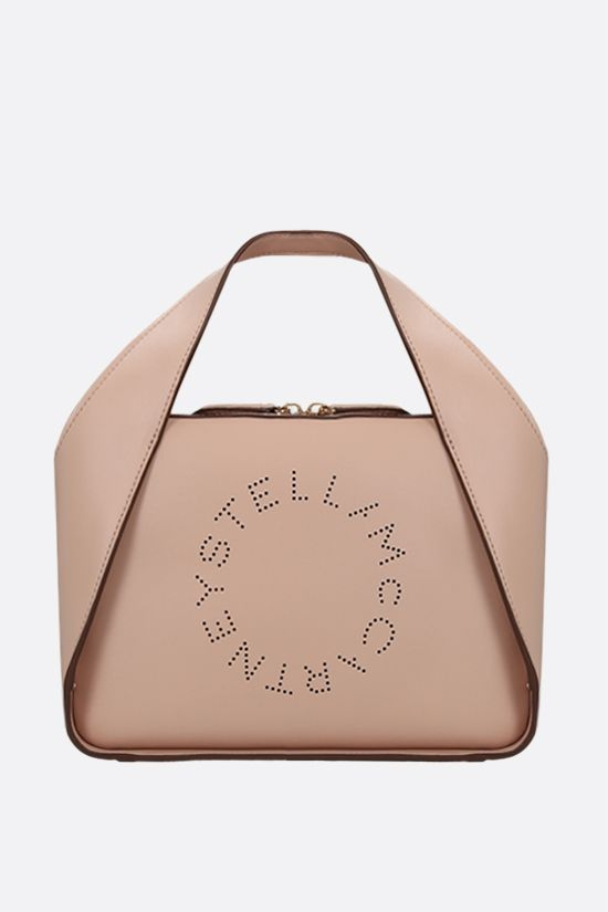 STELLA McCARTNEY: Stella Logo medium tote in Alter Nappa Color Pink_1