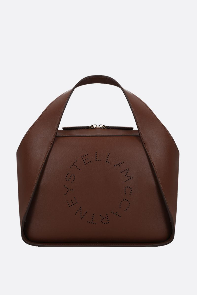 STELLA McCARTNEY: Stella Logo medium tote in Alter Nappa Color Neutral_1