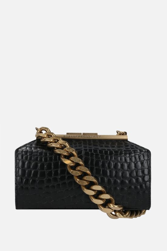 STELLA McCARTNEY: croc-embossed Alter Nappa top handle bag Color Black_1