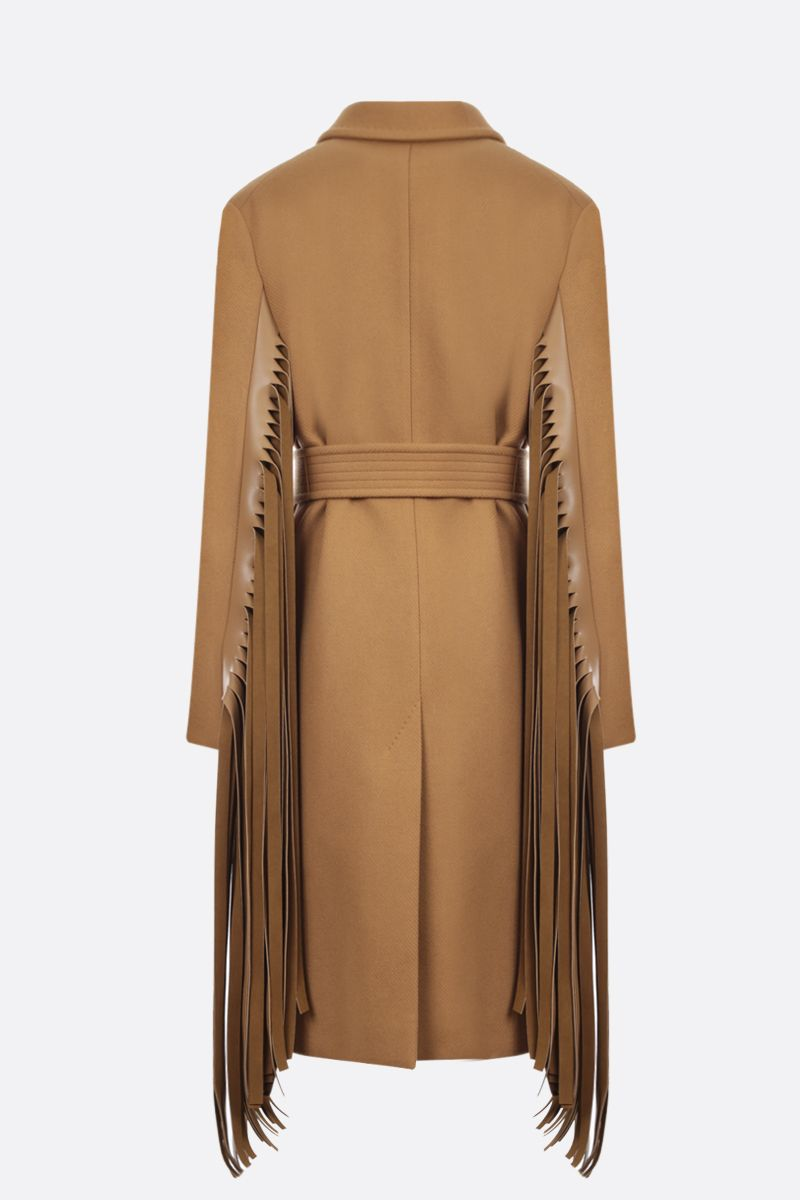 STELLA McCARTNEY: Phoebe wool double-breasted coat Color Brown_2