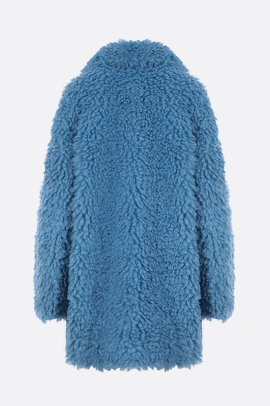 STELLA McCARTNEY: cappotto oversize Josephine in Fur Free Fur Colore Blu_2