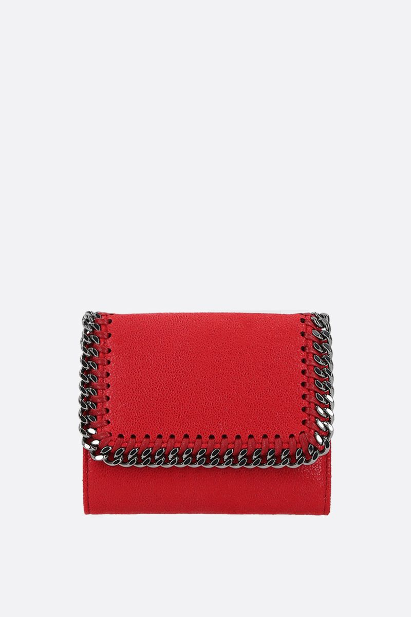 STELLA McCARTNEY: small Falabella Shaggy Deer flap wallet_1