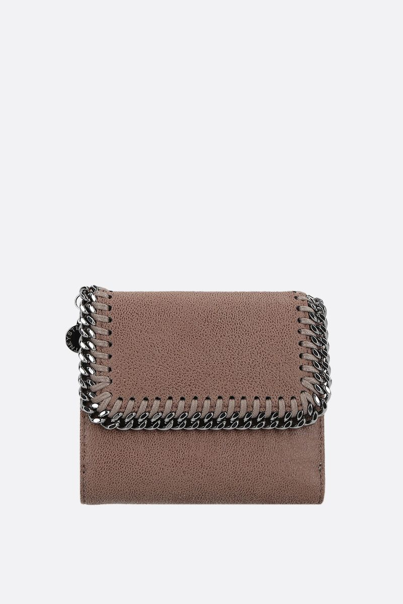 STELLA McCARTNEY: Falabella flap wallet in Shaggy Deer_1