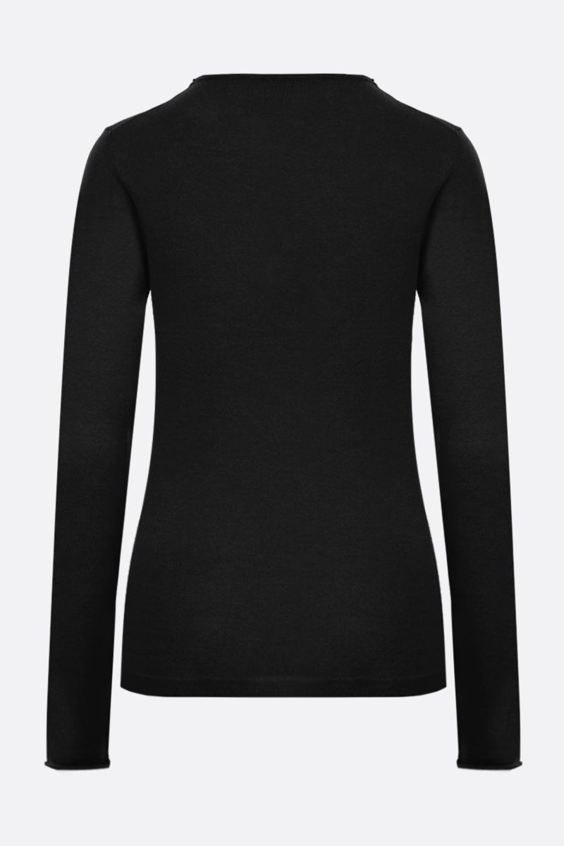 STELLA McCARTNEY: lightweight wool pullover Color Black_2