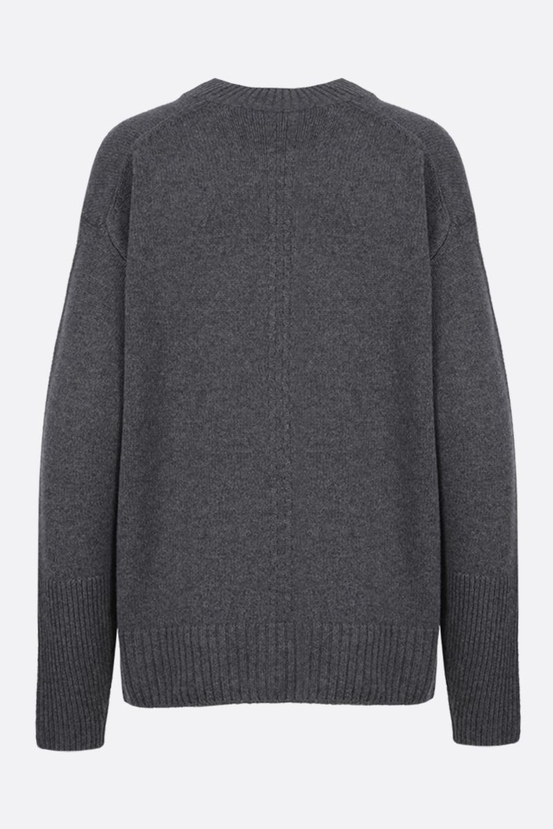 STELLA McCARTNEY: oversize cashmere wool blend pullover Color Grey_2