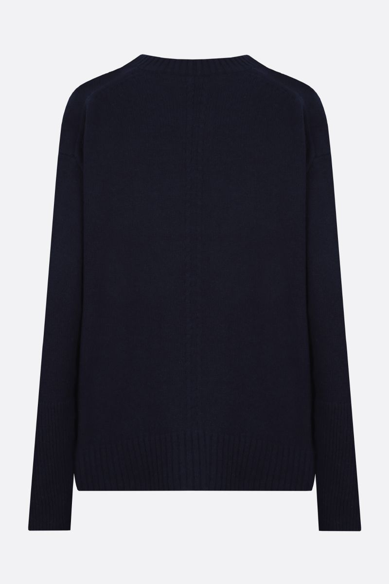 STELLA McCARTNEY: oversize cashmere wool blend pullover Color Black_2
