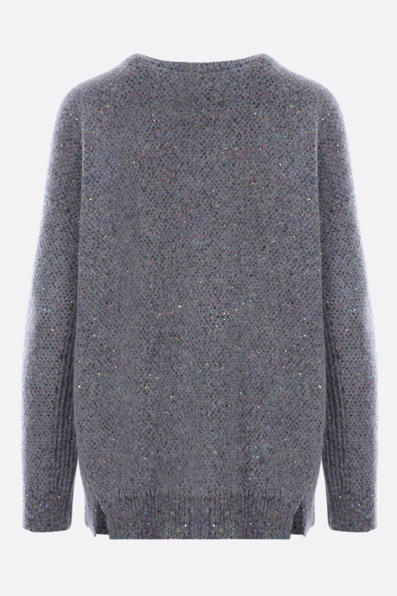 STELLA McCARTNEY: sequinned alpaca blend oversize pullover Color Black_2
