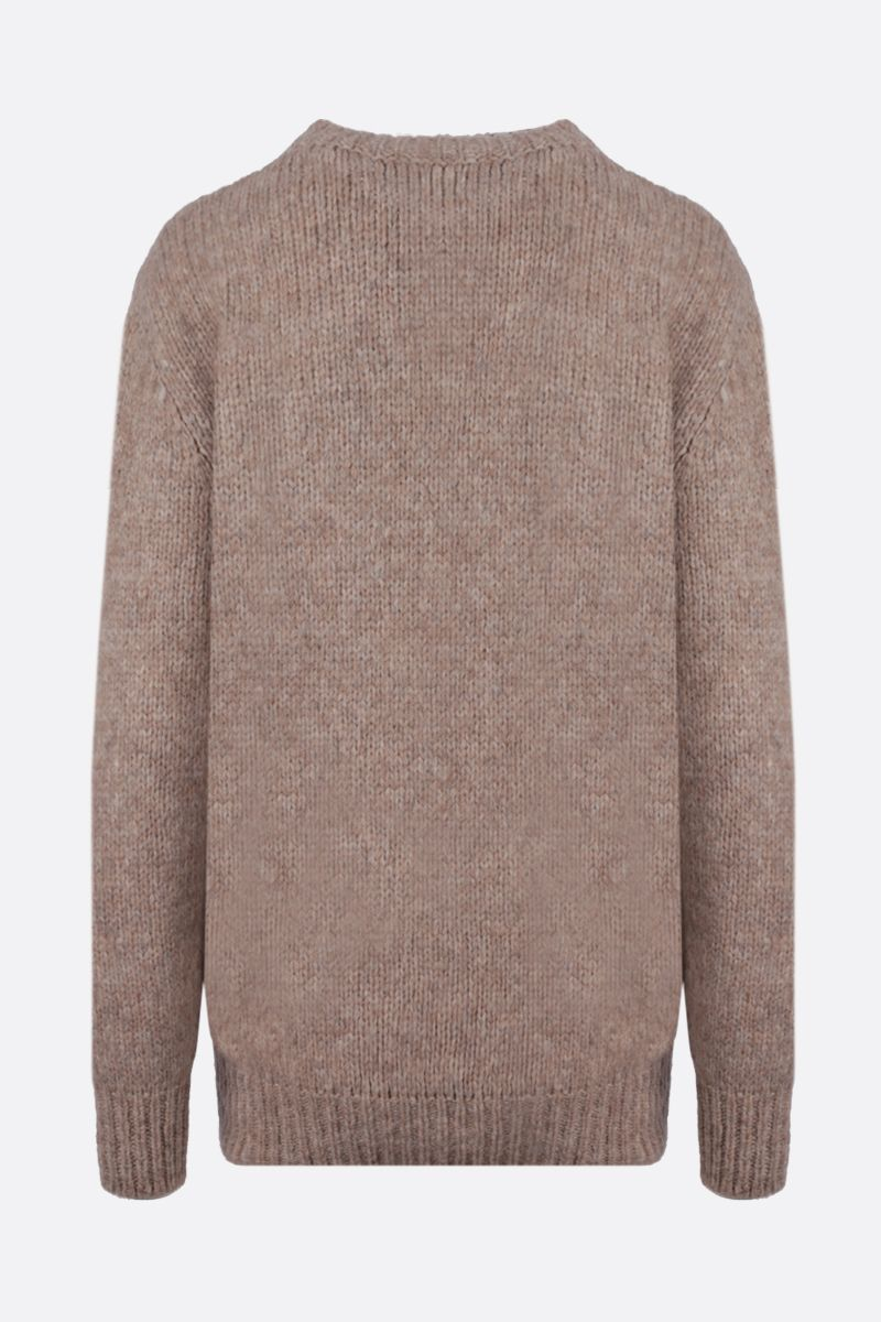 STELLA McCARTNEY: graphic embroidery alpaca blend pullover Color Neutral_2
