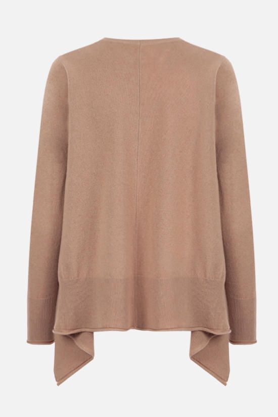 STELLA McCARTNEY: cashmere wool blend asymmetric pullover Color Brown_2
