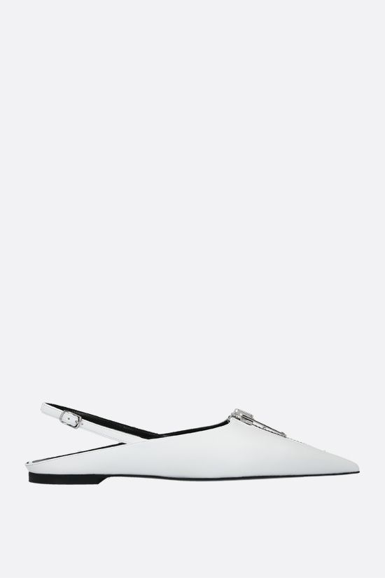 STELLA McCARTNEY: Zipit slingbacks in Alter Nappa Color White_1