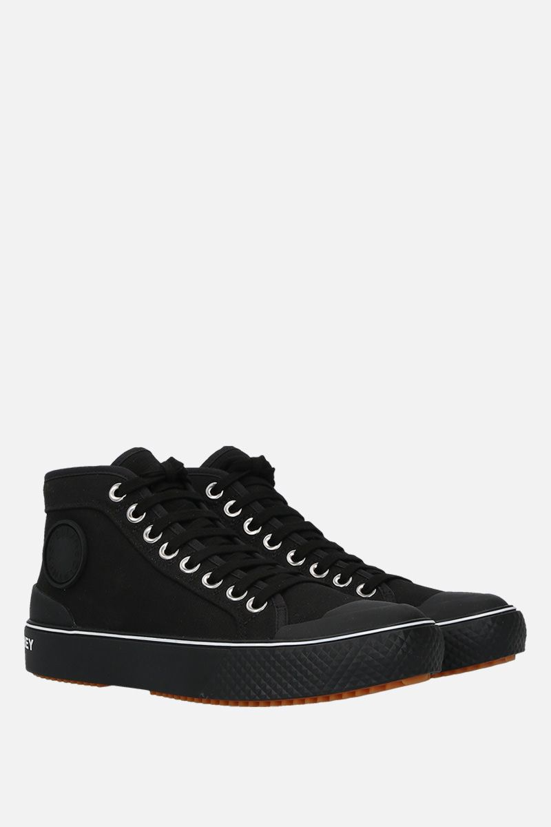STELLA McCARTNEY: canvas high-top trainers Color Black_2
