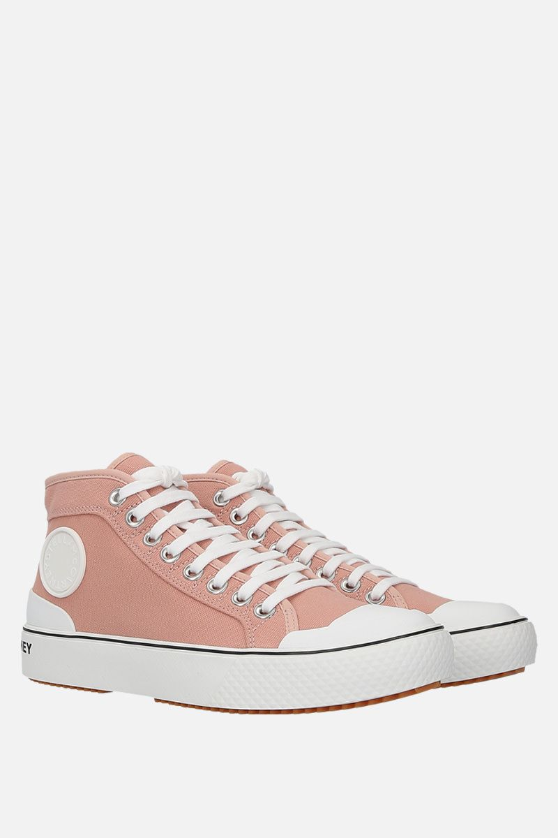 STELLA McCARTNEY: canvas high-top trainers Color Blue_2