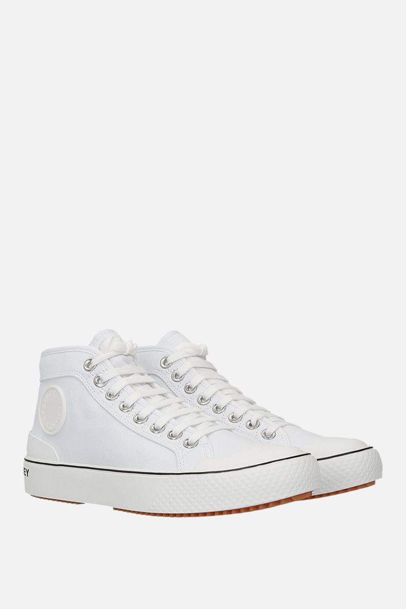 STELLA McCARTNEY: canvas high-top trainers Color White_2