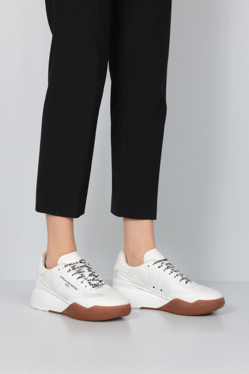 STELLA McCARTNEY: Loop nylon and Alter Suede sneakers Color White_2