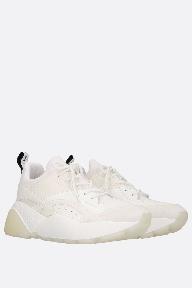 STELLA McCARTNEY: Eclypse sneakers in Alter Nappa and Alter Suede Color White_2