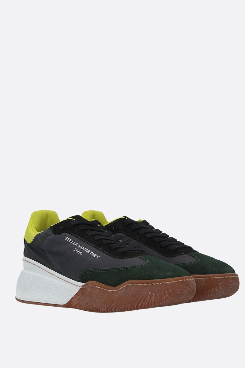 STELLA McCARTNEY: Loop sneakers in nylon and Alter Suede Color Grey_2