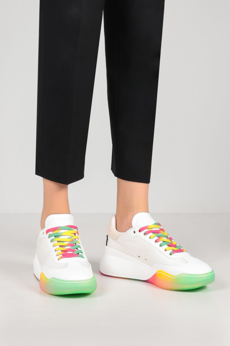 STELLA McCARTNEY: Loop recycled nylon and Alter Nappa sneakers Color White_2