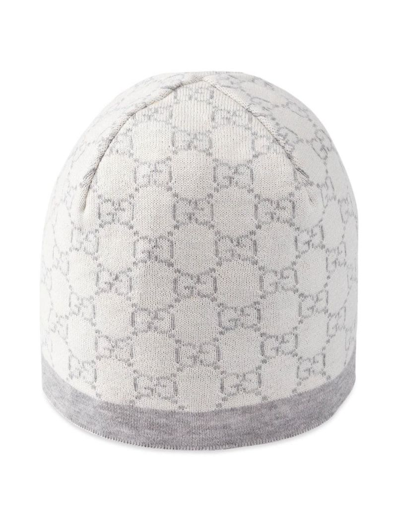 GUCCI CHILDREN: GG wool beanie Color Neutral_1