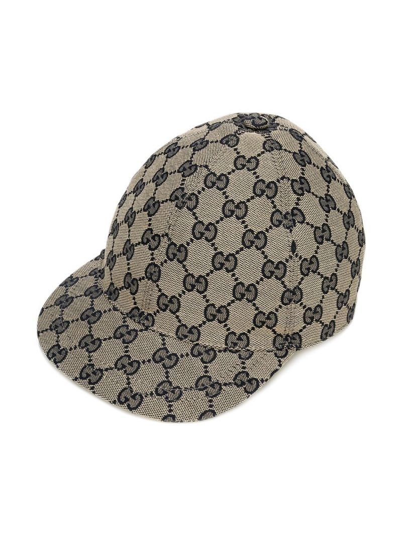 GUCCI CHILDREN: GG canvas baseball cap Color Brown_1