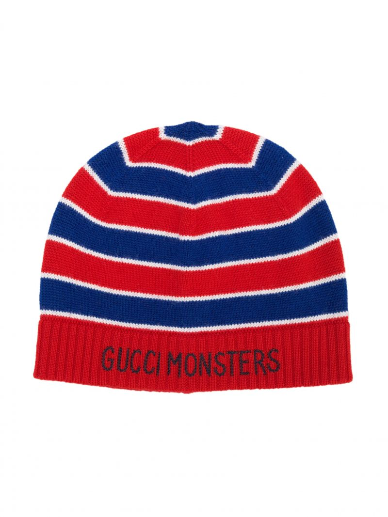 GUCCI CHILDREN: berretto in lana con intarsio Gucci Monsters Colore Multicolore_1