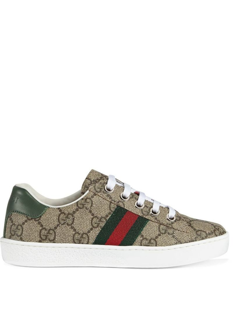 GUCCI CHILDREN: Ace sneakers in GG Supreme canvas Color Multicolor_1