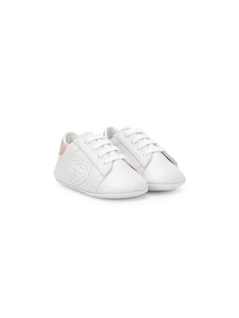 GUCCI CHILDREN: Ace smooth leather sneakers Color White_1