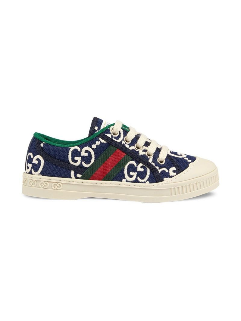 GUCCI CHILDREN: Gucci Tennis 1977 sneakers in GG canvas Color Blue_1